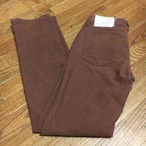 Ann Taylor Loft Straight Brown Corduroy Pants 00